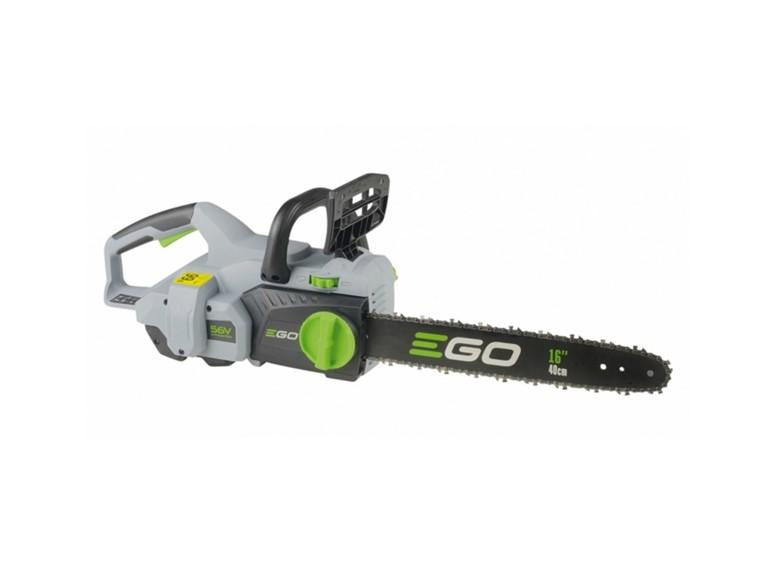 Ego CS 1600 E:   Akku-Motorsäge 56V Technologie  Gewicht: 3,9kg  Schienenlänge: 40cm  Akku-