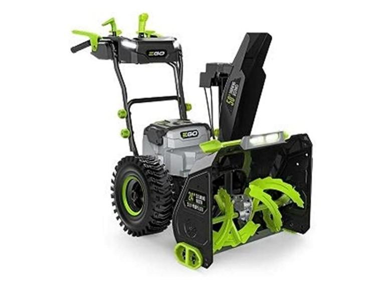 EGO SNT2400E Akku Schneefräse SET:   Schneefräse mit Radantrieb  Bürstenloser Motor  Räumbreite: 61cm  Öffnungs